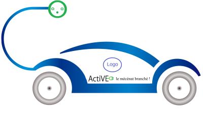 Logo VECom le mécénat branché + logo